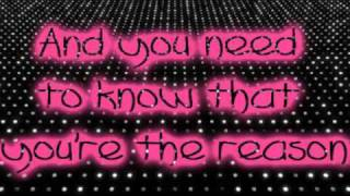 You're The Reason- Victoria Justice (Lyrics On Screen).flv