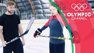 Ice Hockey Champion vs Fitness YouTuber - Buff Dude Tries an Olympian