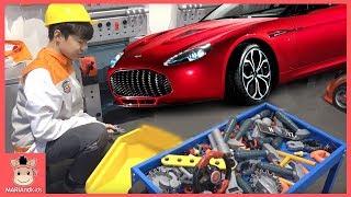 자동차 고장났어요! 정비사 된 미니 직업 체험 놀이 ♡ 토이킹덤 플레이 장난감 왕국 테마파크 놀이터 car indoor playground | 말이야와아이들 MariAndKids