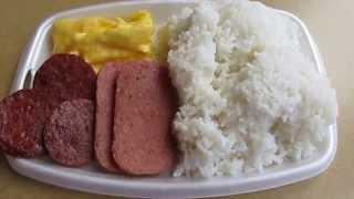Mcdonald's Hawaii Local Deluxe Breakfast Platter Portuguese Sausage Spam Eggs Rice Wahiawa Oahu
