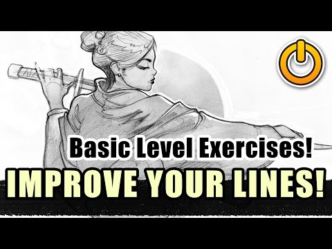 Improve your Line Drawing! Basic beginner LVL exercises!