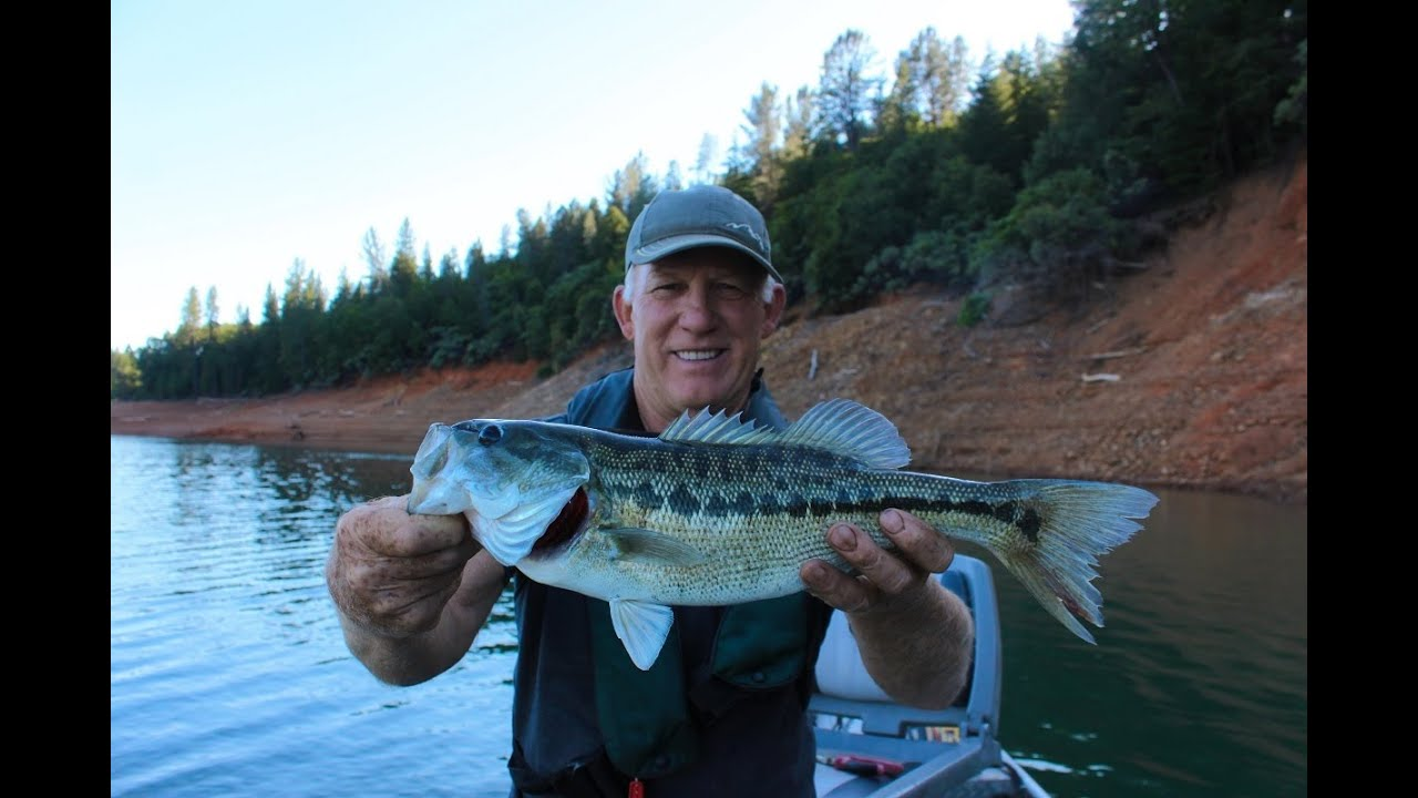 A day spent fishing for spotted bass at shasta lake youtube for Lake shasta fishing report