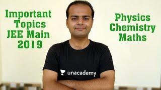 Important Topics JEE Main 2019 | JEE Main Strategy Last 30 Days | Formula Booklet | Crash Course