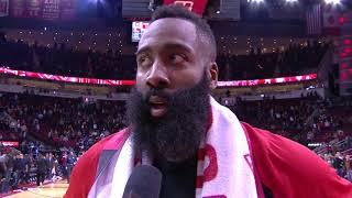 James Harden Postgame Interview | Rockets vs Grizzlies - January 14, 2019
