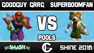 GoodGuy | Grrg (Falcon/Kirby) VS SuPeRbOoMfAn (Fox) | Shine 2016 | 64 Pools