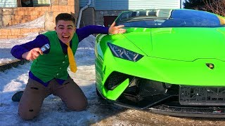 A LOT OF Toy Cars in Wheel Car VS Mr. Joe on Lamborghini Huracan Performance in Car Service for Kids