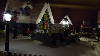 LEGO Christmas Dekoration at my Home. Daylight and Night!!!