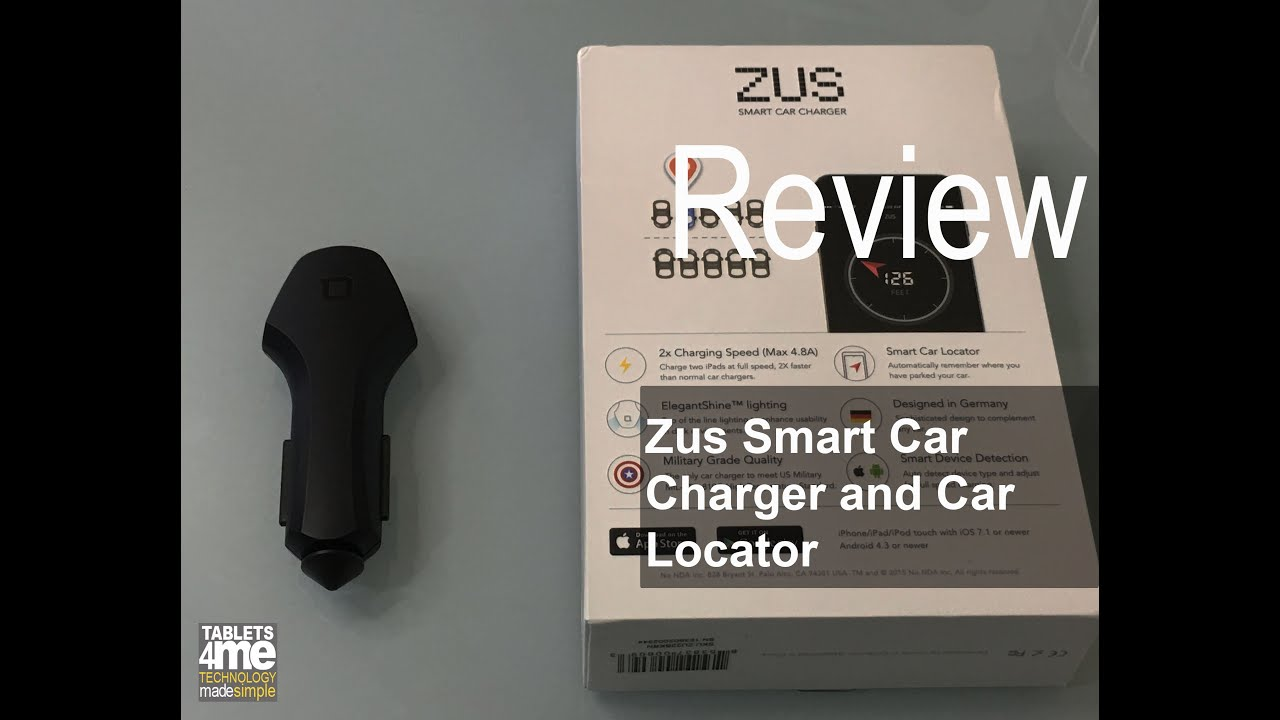 ZUS Smart USB Car Charger & Car Locator