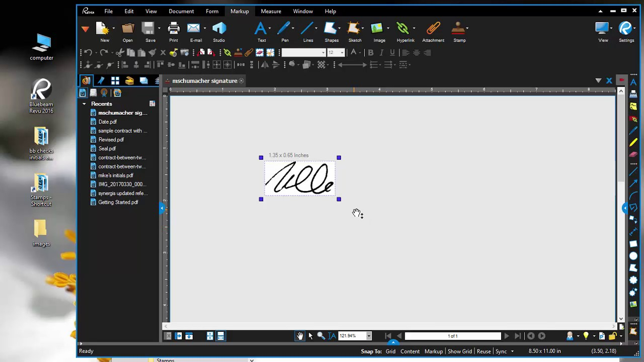 how to make bluebeam stamps for a checkmark, signature, and initials