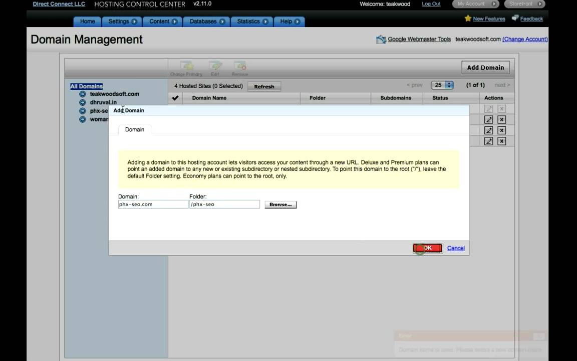 Setup Multiple Domains on 1 Hosting Account - YouTube