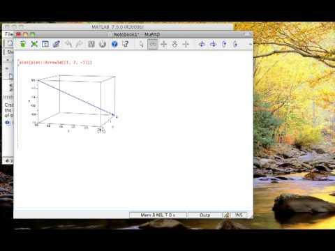 How to plot 3d vectors in MuPad (MATLAB Symbolic Toolbox)