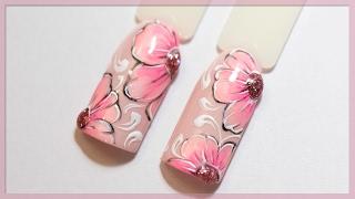 Дизайн ногтей цветы | Мои новые оттенки гель-лака Alexa | Милый маникюр