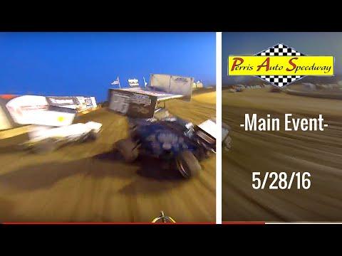 California Lightning Sprint at Perris Auto Speedway -Main Event - 5/28/16