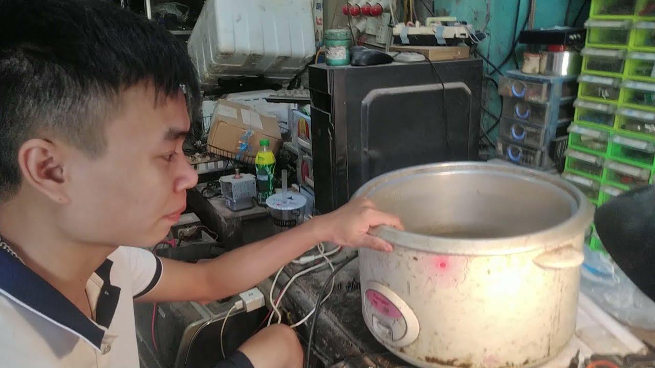 hướng dẫn sửa nồi cơm điện bị dò điện áp ra vỏ, các bước sử lí khi gặp hiện tượng dò điện ra vỏ.