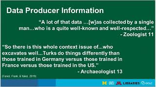 Works in Progress Webinar What Data Reusers Want and How Data Curators Can Use It to Their Advantage