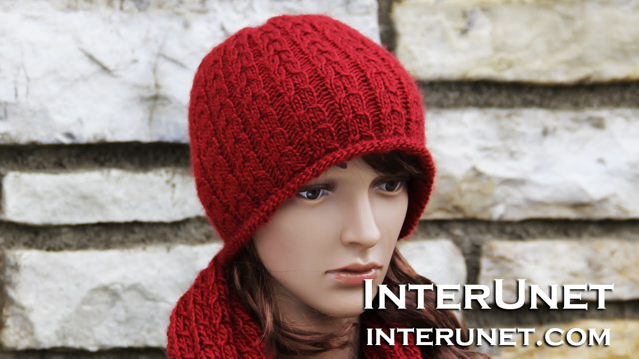 6ee53794223 ... pattern for a fledgling top quality how to knit a hat double braid  stitch youtube f23f9 7fb0a wholesale crochet ...