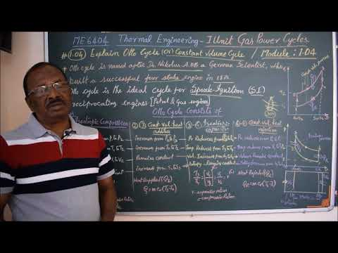 Explain Otto Cycle - M1.04 - Thermal Engineering in Tamil