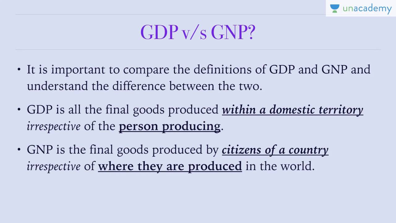 difference between gdp gnp and nnp