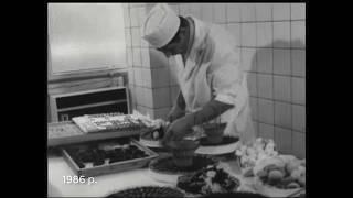 Ретро відео про Київський торт, рецепт якого винайшли на Київській фабриці (нині Рошен)