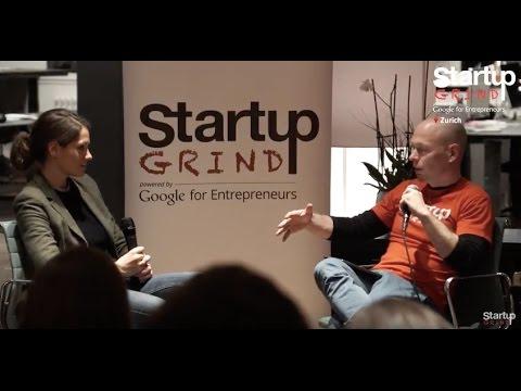 Kathrin Lehner (Coachfrog) at Startup Grind Zurich, w/ David Butler