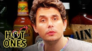 John Mayer Has a Sing Off While Eating Spicy Wings Hot Ones