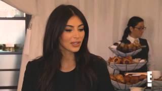 Khloe Kardashian and Kim Kardashian arriving at Kourtney's baby shower