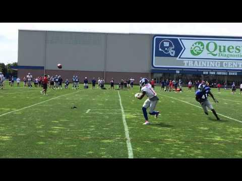 Odell Beckham Jr. dusts DRC in Giants practice