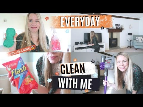 EVERYDAY CLEAN WITH ME   DAILY CLEANING ROUTINE   CLEANING MOTIVATION