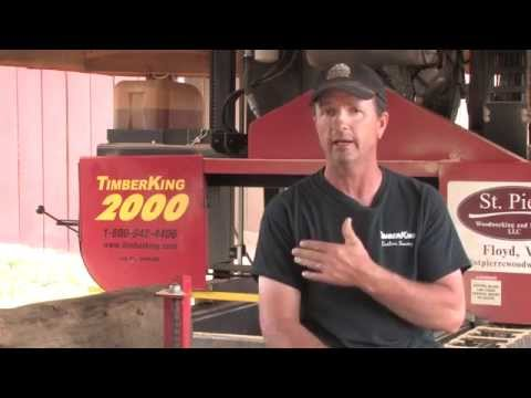 Tree to Trim with TK 2000 Portable Sawmill Owner Bill St. Pierre