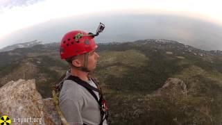 Прыжок с веревкой (роупджампинг) со скалы в Крыму, Шаан-Кая (команда X-Sport.org)(, 2013-10-02T19:59:01.000Z)
