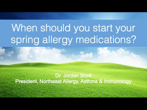 Spring Allergies? When to Start Your Medication