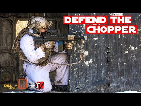 Defend The Helicopter - Winter Warefare Airsoft Gameplay