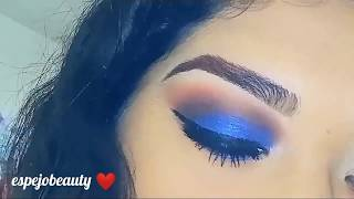 Makeup de noche azul💙 #blue #makeup #beauty #dramatic