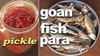 Homemade Fish Pickle Recipe   Goan Bangda / Mackerel Para Recipe  *Fatima Fernandes   Goan Fish Para