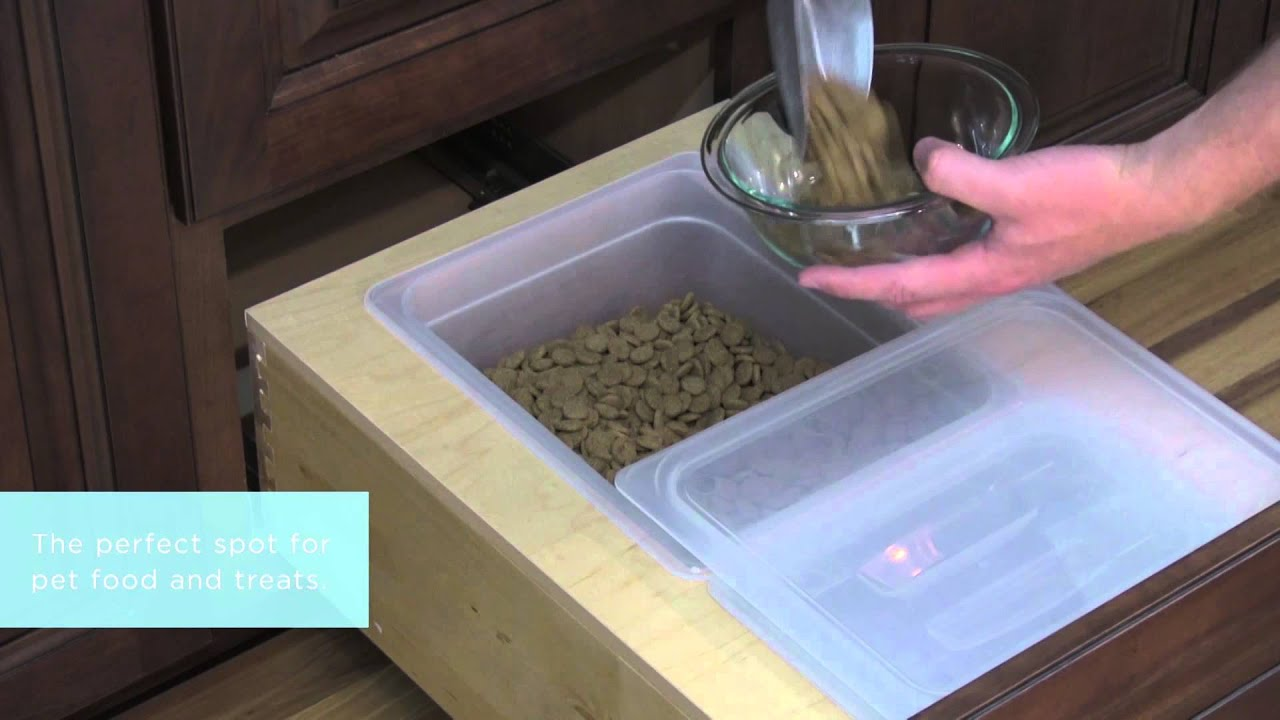 Medallion Cabinetry Installed Bin Storage Kitchen Storage Part 3