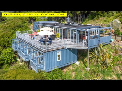 Container House in Banks Peninsula, Canterbury, New Zealand