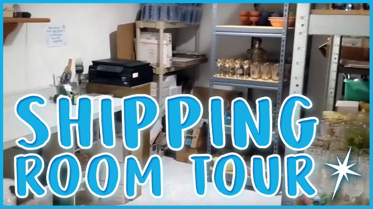 2017 Etsy Room Tour - Online Selling Inventory and Shipping Room