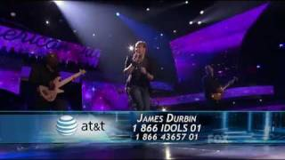 james durbin   dont stop believin 1st song   top 4   american idol 2011   051111