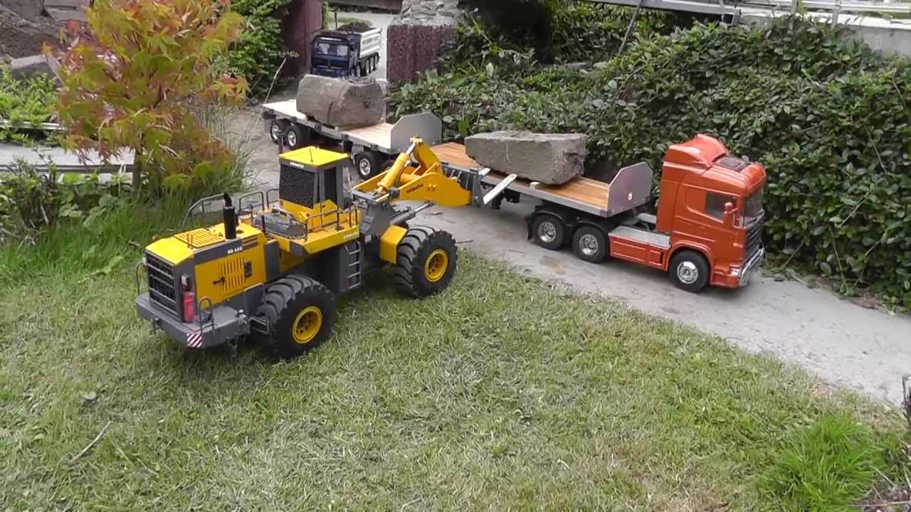 Rc Retaining Walls : Heavy construction zone rc wheel loader build a