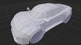 Blender 3D | Low Poly - Sports Car Speed Modeling (Part 1.)
