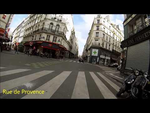 Cycling in Paris - Porte de Clichy - Saint-Michel (Itinéraire officiel 6)