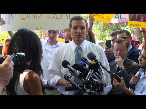 Ted Cruz Takes Down Code Pink Hecklers on Iran