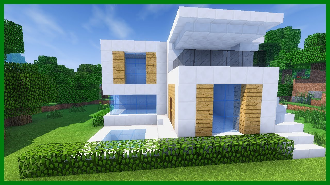 Case A Due Piani minecraft - how to make a modern house