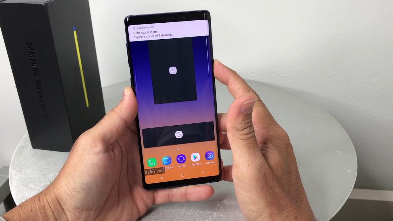 How to get Samsung Galaxy Note 9 IN & OUT of safe mode