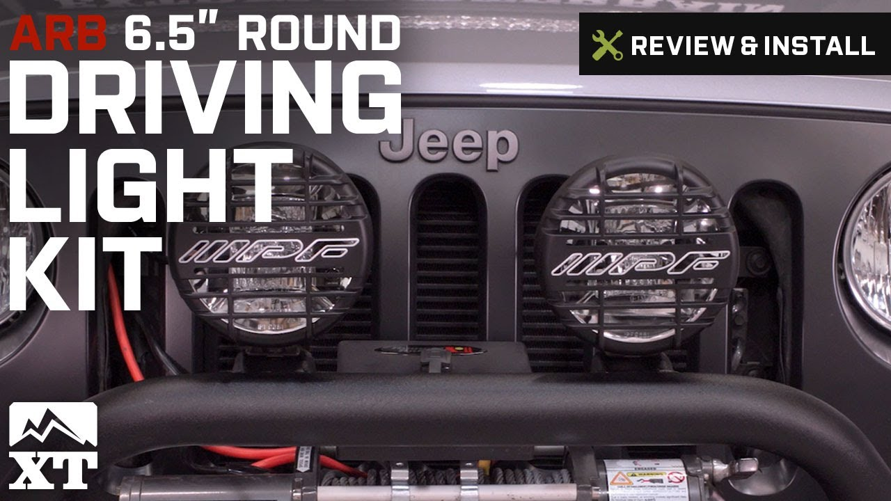 jeep wrangler arb driving light kit 6 5 round 1987 2016 yj tj jeep wrangler arb driving light kit 6 5 round 1987 2016 yj tj jk review install