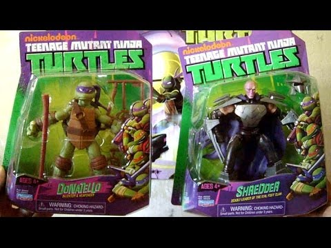Tmnt 2012 Toy Review Donatello And Shredder Action Figures