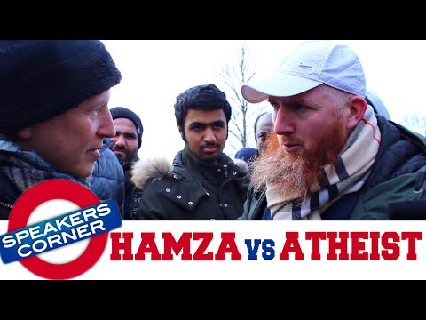 Hamza Debates Atheist & Christian On Evolution & Nature Of God | Speakers Corner