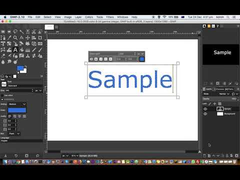 How to outline text in GIMP |  Highlight text | Text border thumbnail