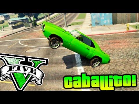 INCREIBLE !! GTA 5 MOD CABALLITO CON EL COCHE!! GTA V ONLINE HACK Makiman
