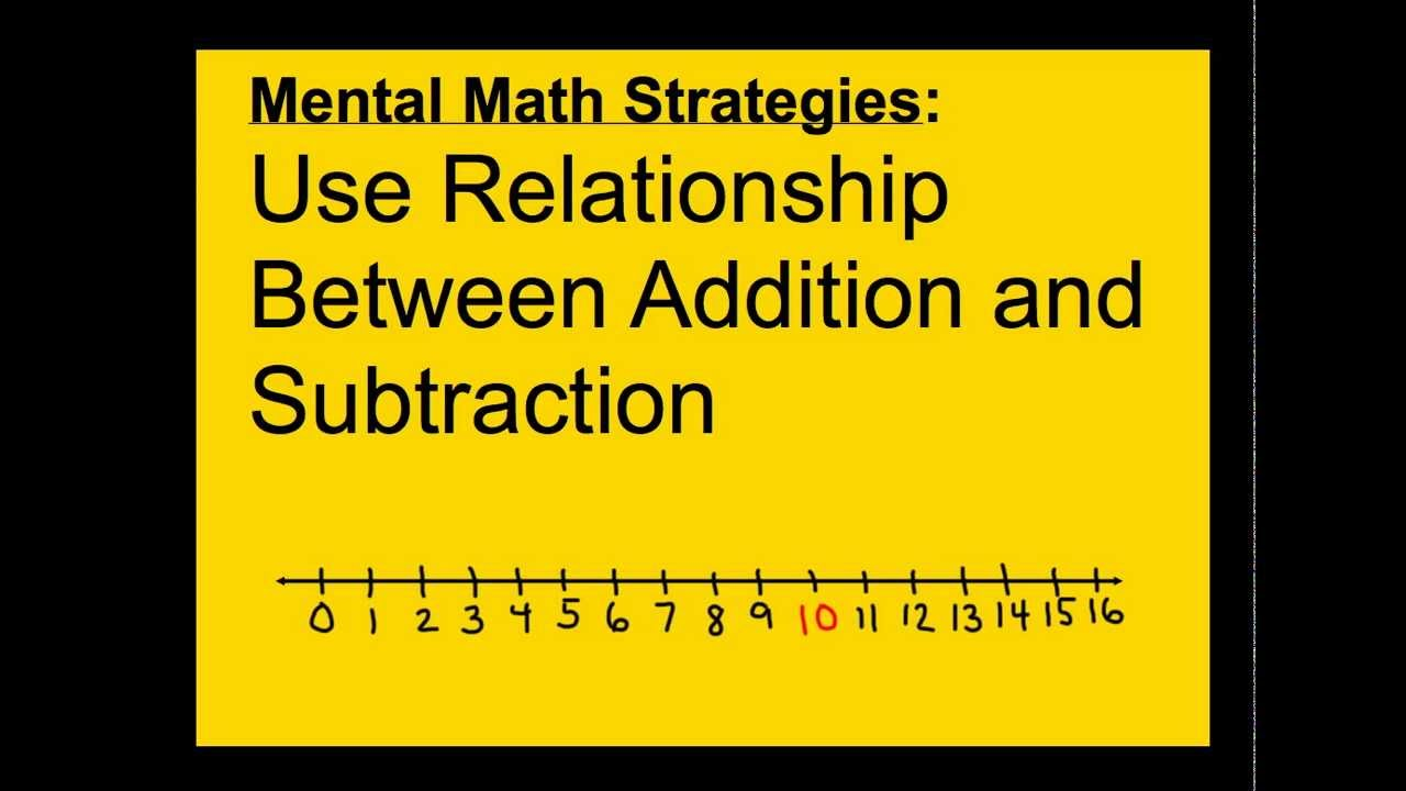 1 oa 6 2 oa 2 mental math strategies addition subtraction relationship youtube. Black Bedroom Furniture Sets. Home Design Ideas